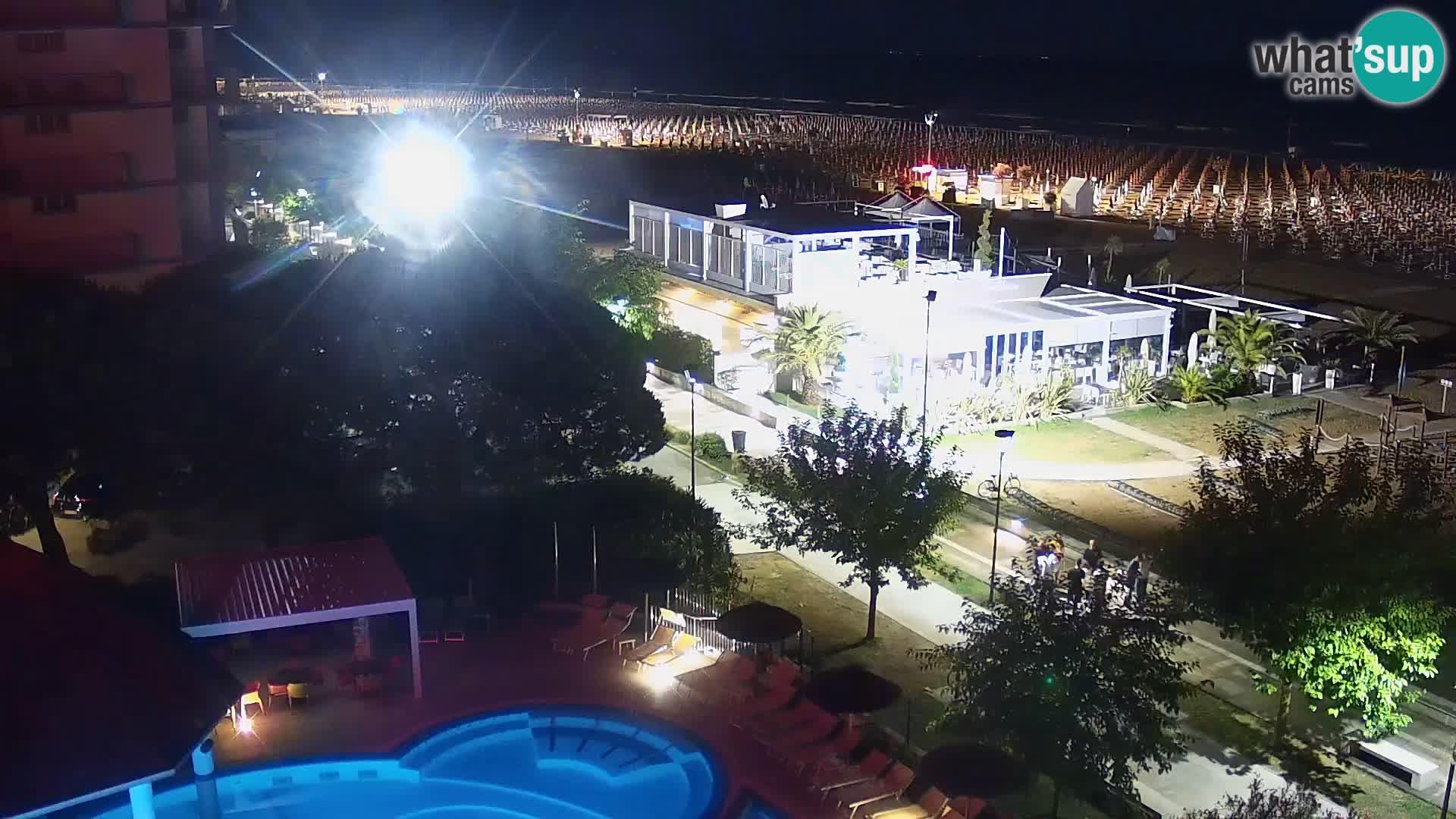 Live Webcam Bibione beach – view from Ashanti ApartHotel