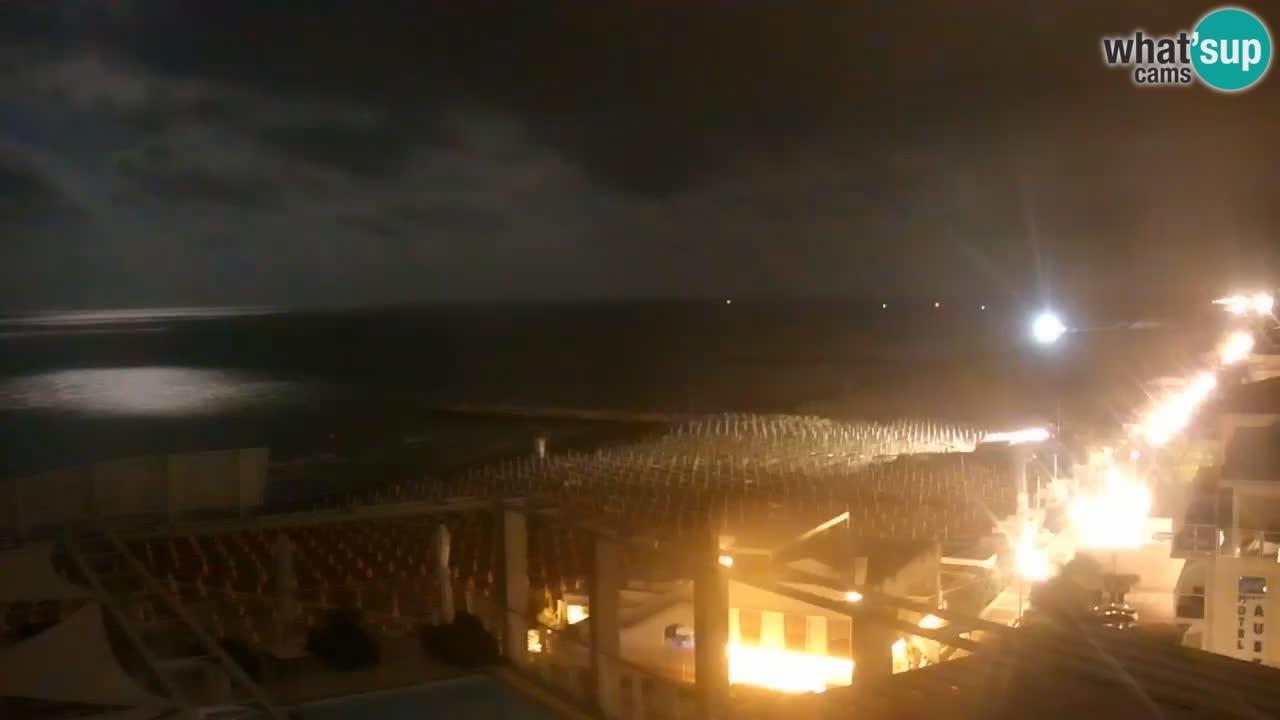 Webcam Caorle – Playa Ponente west – Hotel Marco Polo