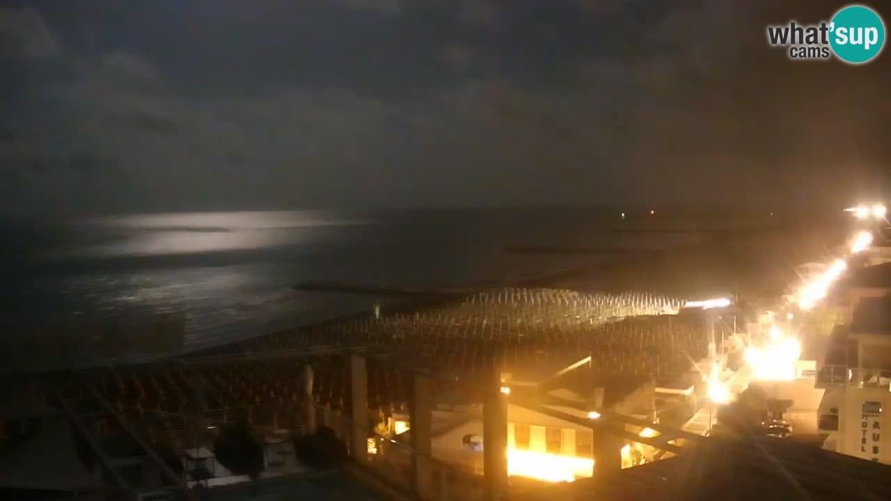 Webcam Caorle – Ponente Strand nach Hotel Marco Polo