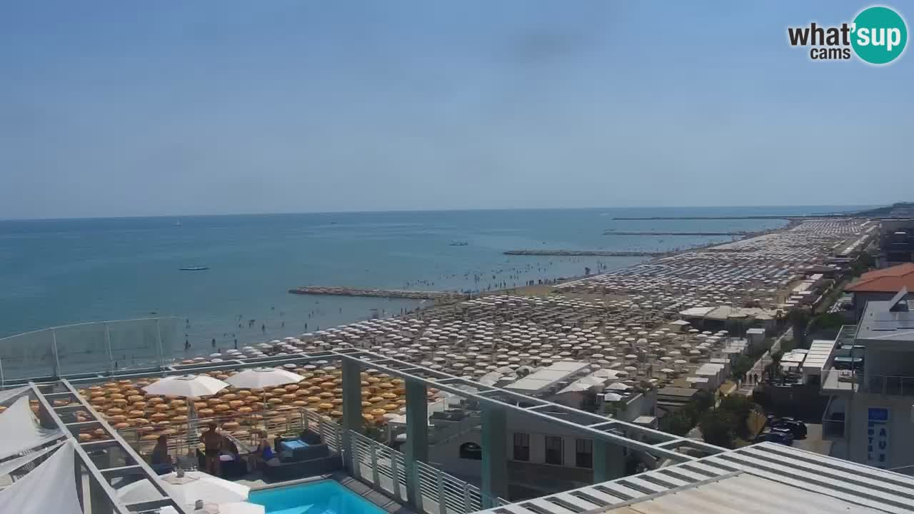 Kamera v zivo Caorle – Plaza Ponente s Hotela Marco Polo