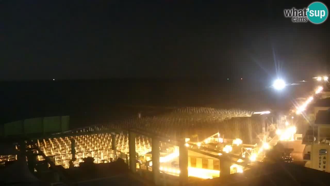 Webcam Caorle – Plage Ponente west – Hotel Marco Polo