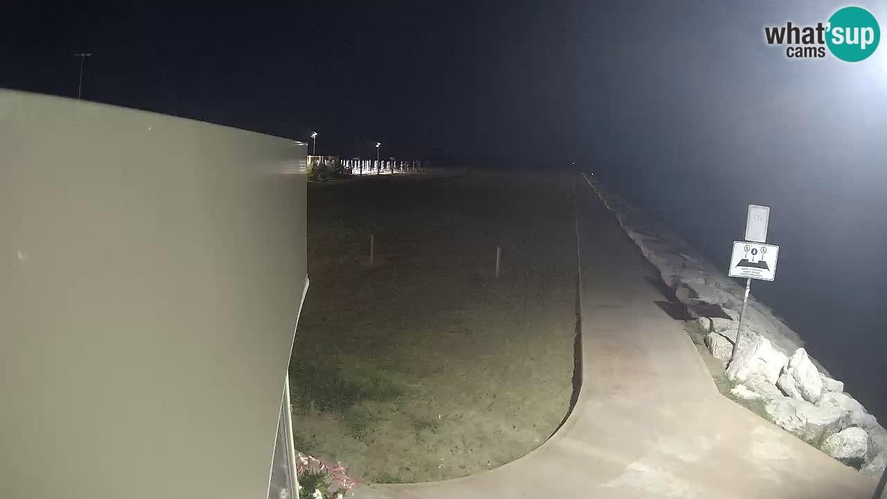 Web kamera Caorle  – Plaža Ponente – ob kanalu Livenza