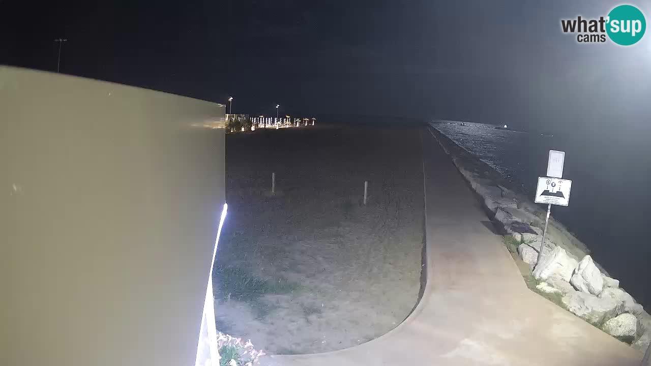 Webcam Caorle  – spiaggia Ponente – rio Livenza