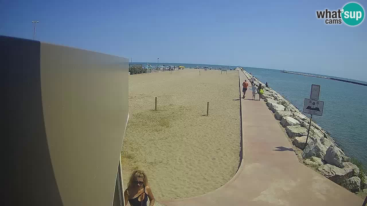 Webcam Caorle  – strand Ponente – kanal Livenza
