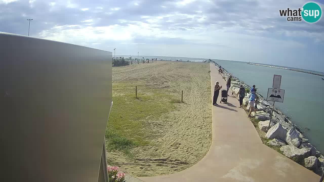 Webcam Caorle  – spiaggia Ponente – presso la foce del fiume Livenza