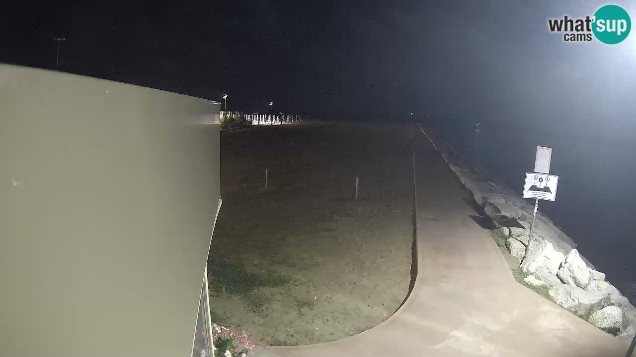 Webcam Caorle  – spiaggia Ponente – rivière Livenza