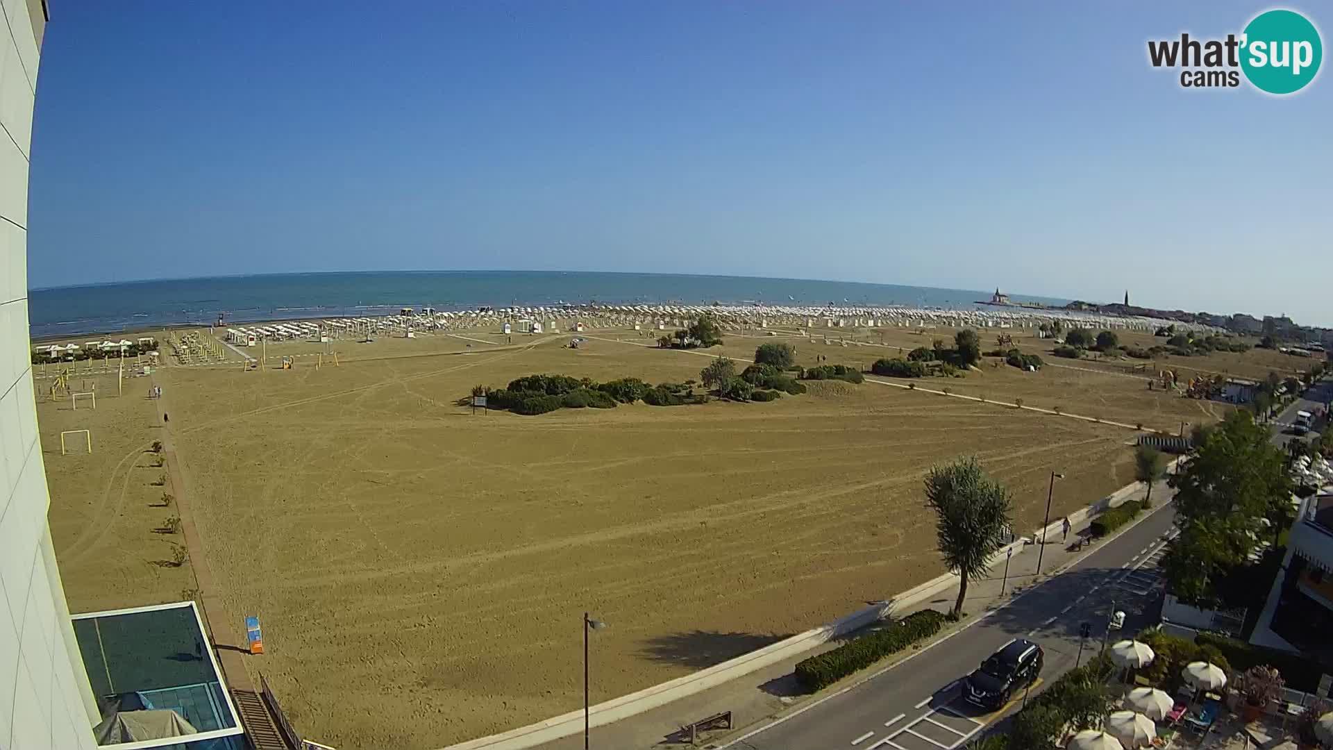 Hotel Panoramic dal vivo Caorle spiaggia Levante webcam