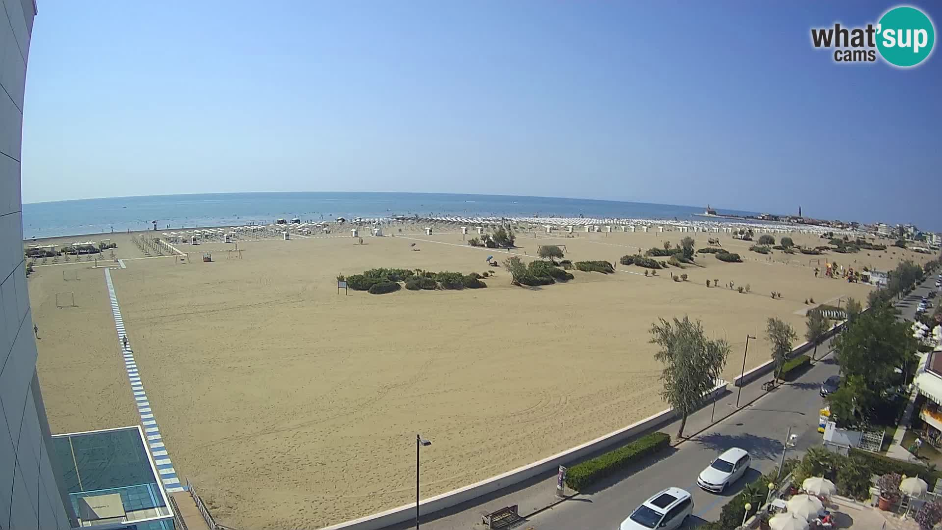 Hotel Panoramic Live view Caorle beach Levante webcam – Italy