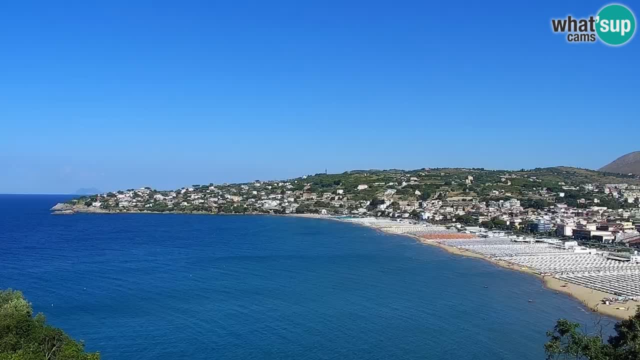 LIVE Gaeta webcam Serapo beach and Fontania promontory