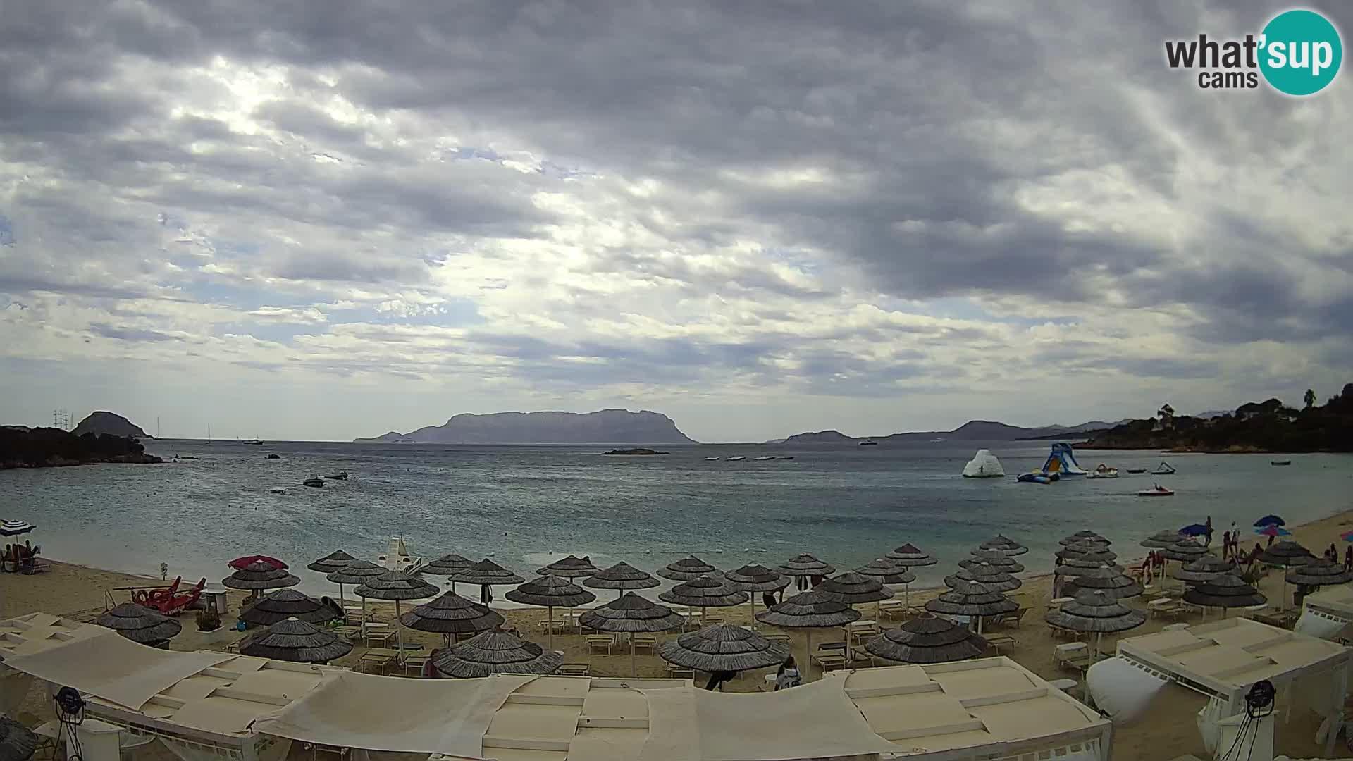 Plaža Cala Sassari Spletna kamera v živo Golfo Aranci – Sardinija