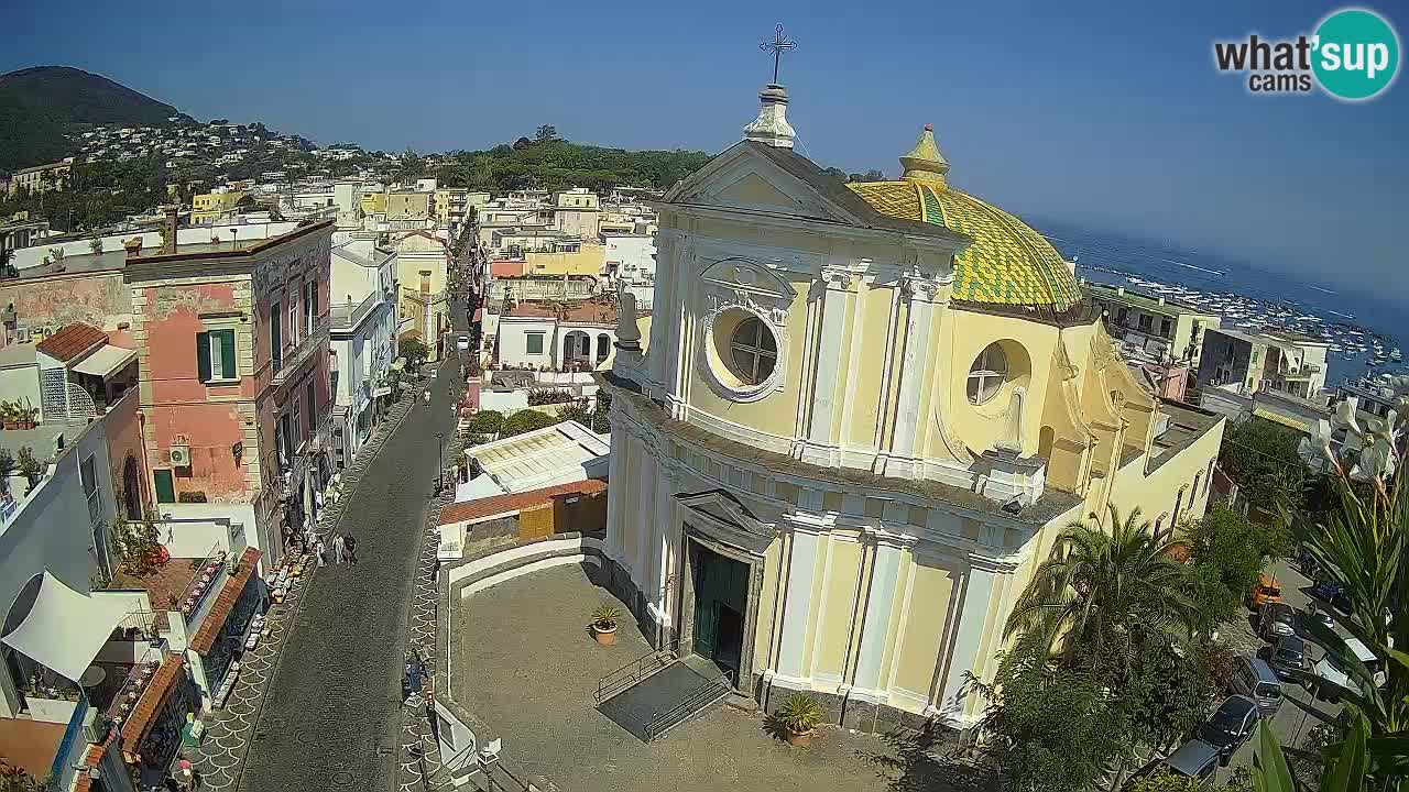 Webcam Ischia – Via Roma e vista sulla Chiesa di Santa Maria delle Grazie in San Pietro