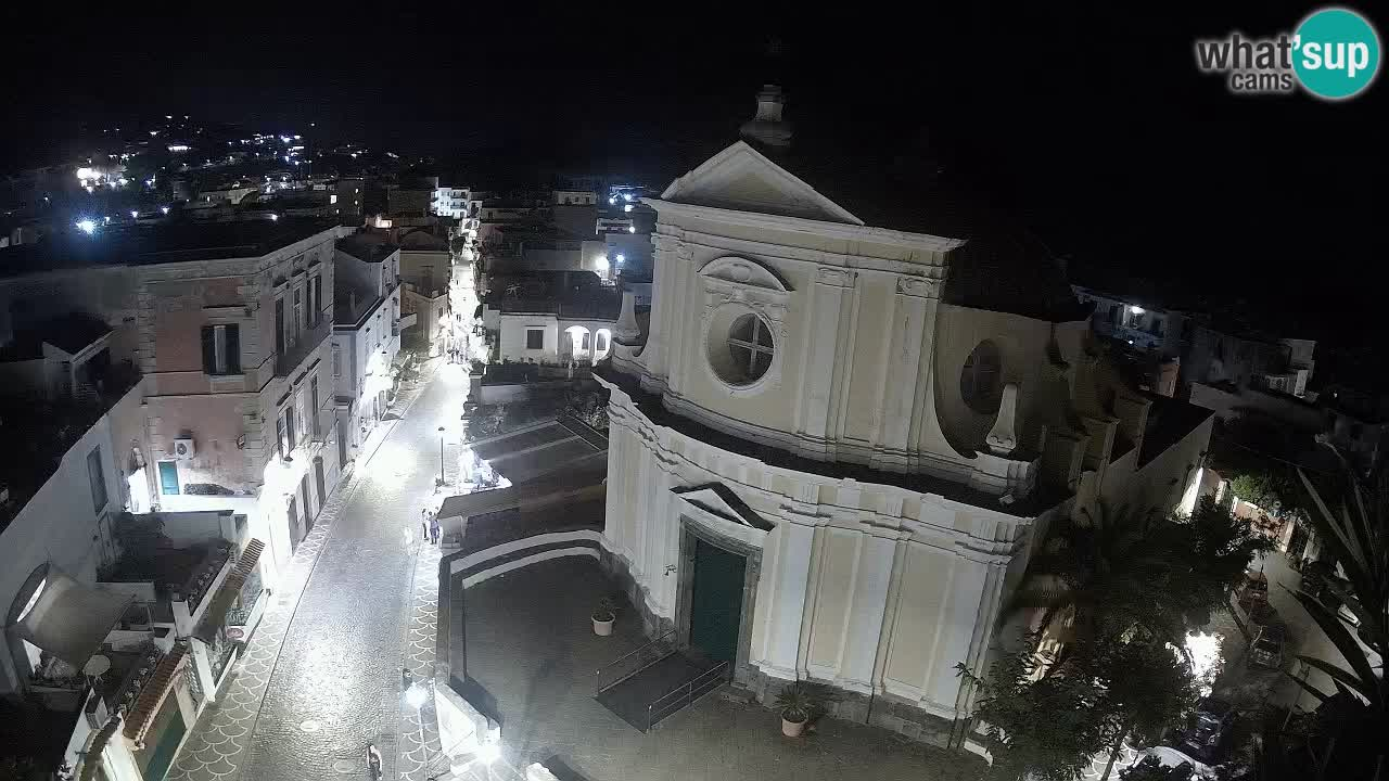ISCHIA webcam – Roma street and Santa Maria delle Grazie in San Pietro chearch