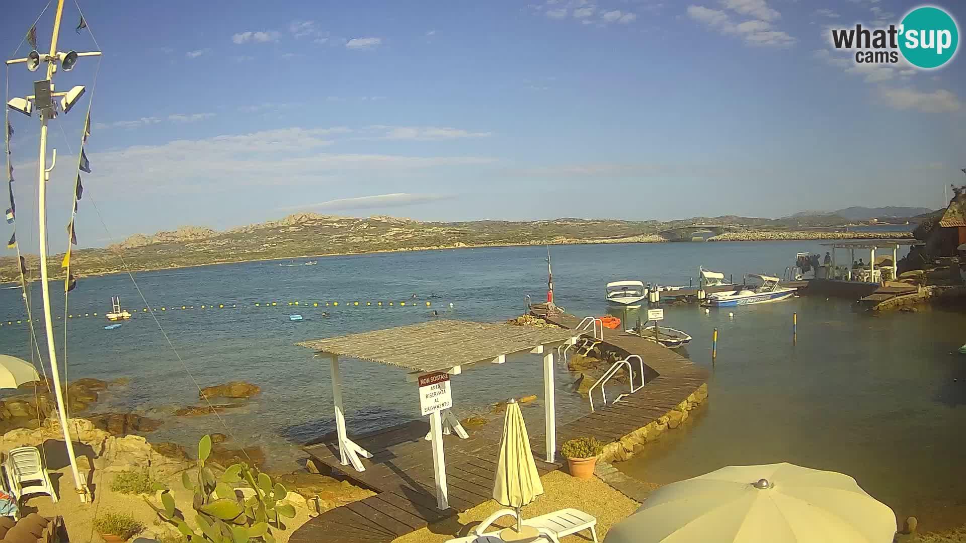 Le bateau Lo Squalo IV – webcam en direct arcipelago La Maddalena – Sardaigne – Italie