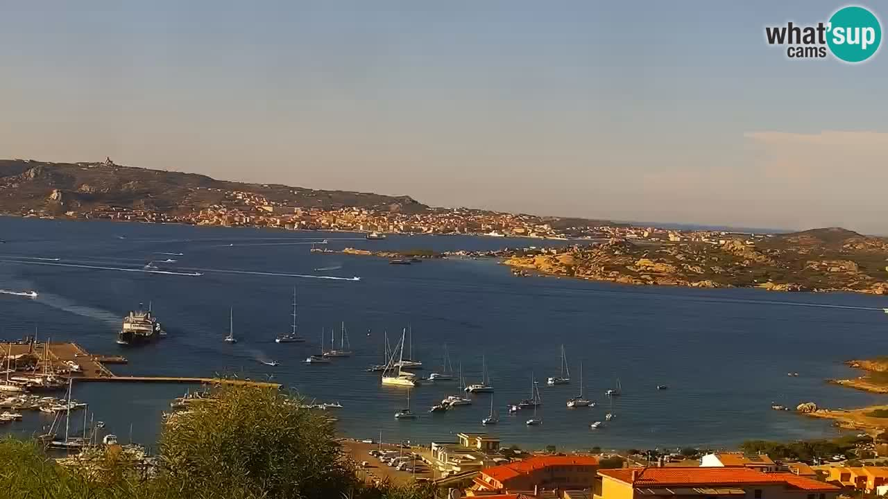 Sardinija v živo spletna kamera Palau – Panoramski pogled