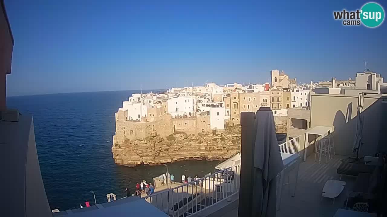Webcam Polignano – Panorama von Malù b&b