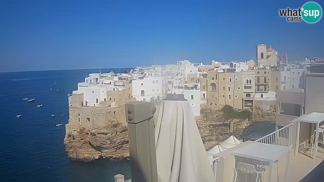 Spletna kamera Polignano – Pogled iz Malù b&b