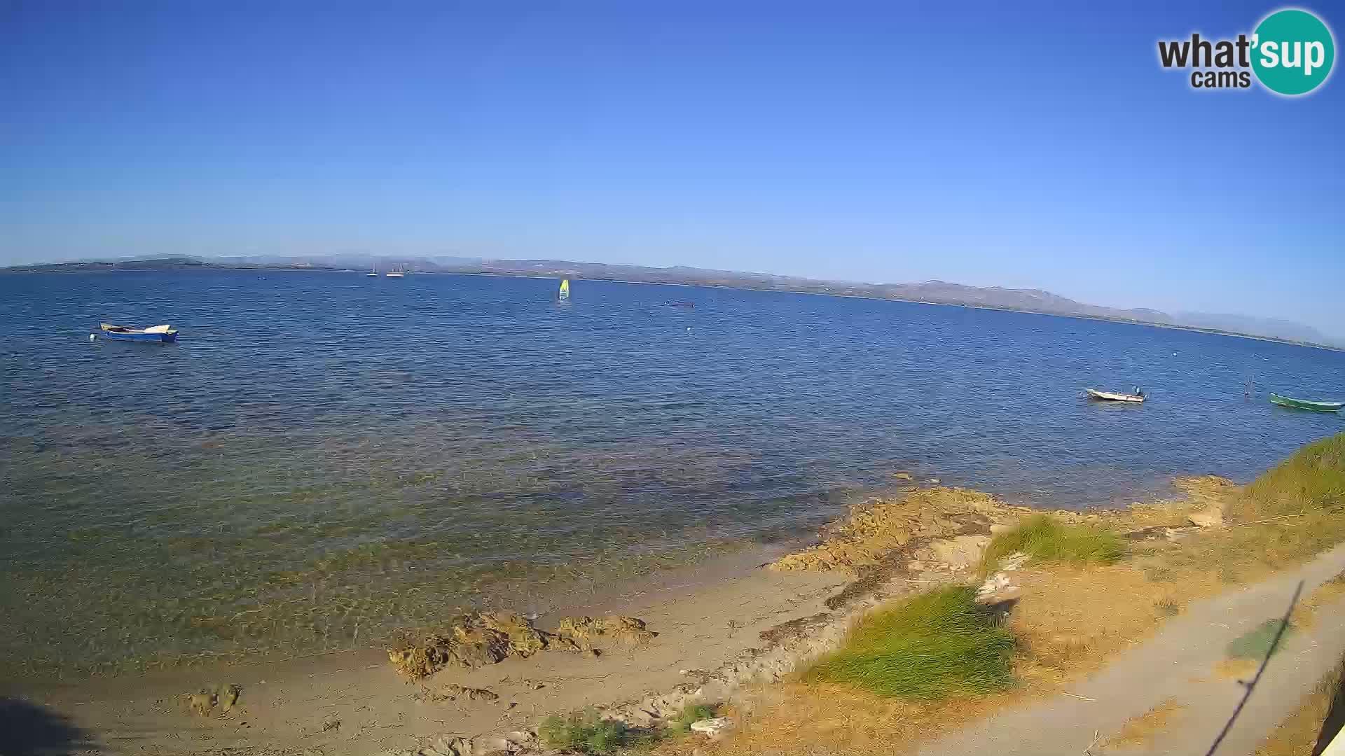 Windsurfing Club Sa Barra spletna kamera Sant'Antioco – Sardinija – Italija