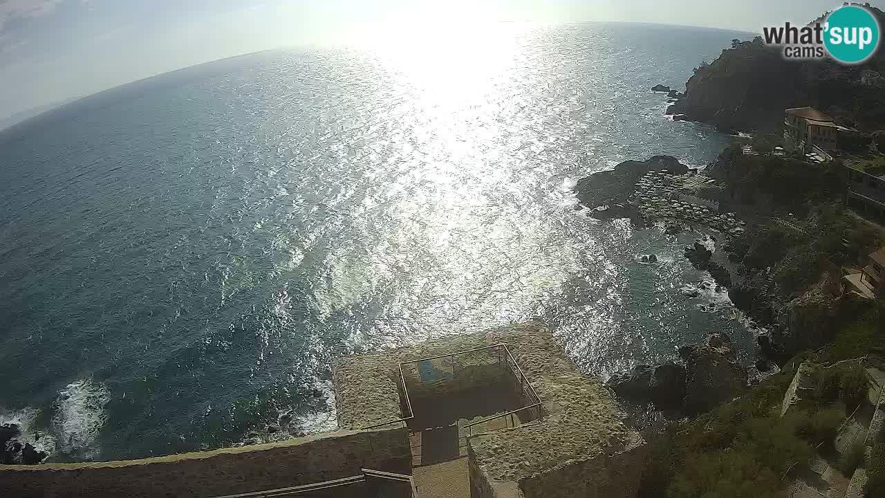 Webcam Talamone spectacular view of the Rocca Aldobrandesca