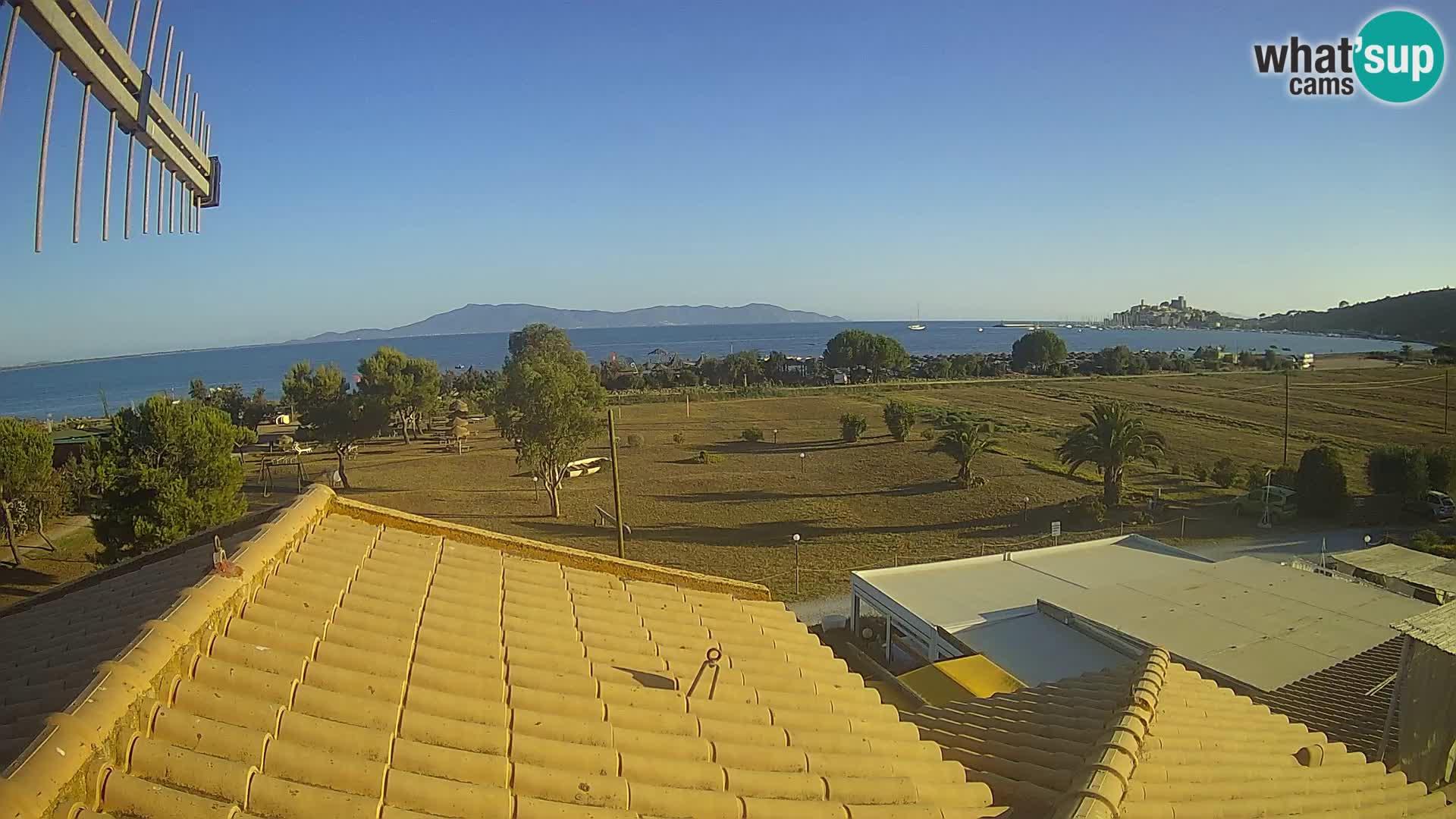 Talamone web kamera Orbetello – Toskana – pogled na Zaljev