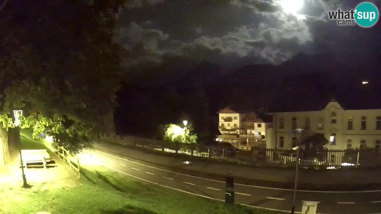 Tarvisio Live webcam – pista ciclabile e il gruppo del Mangart