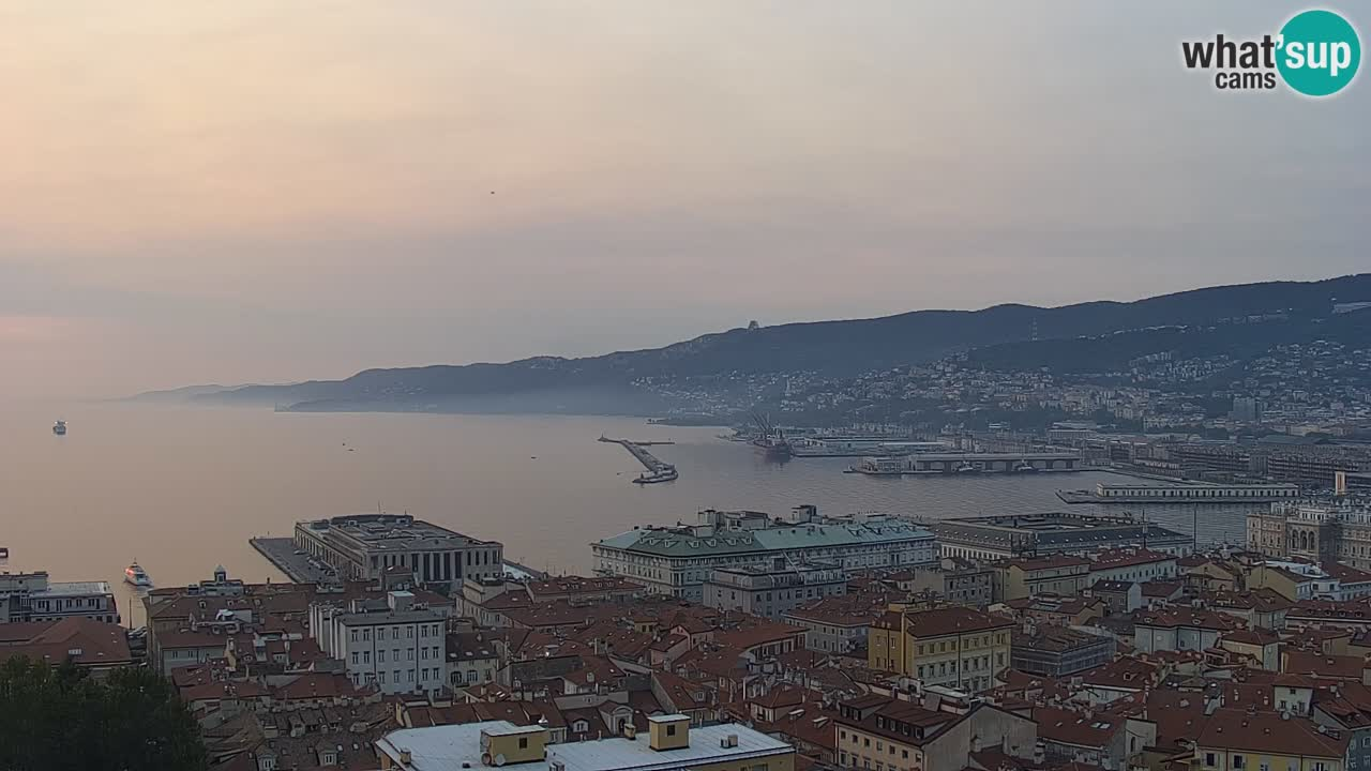 Webcam Trieste –  Vista desde el santuario Monte Grisa