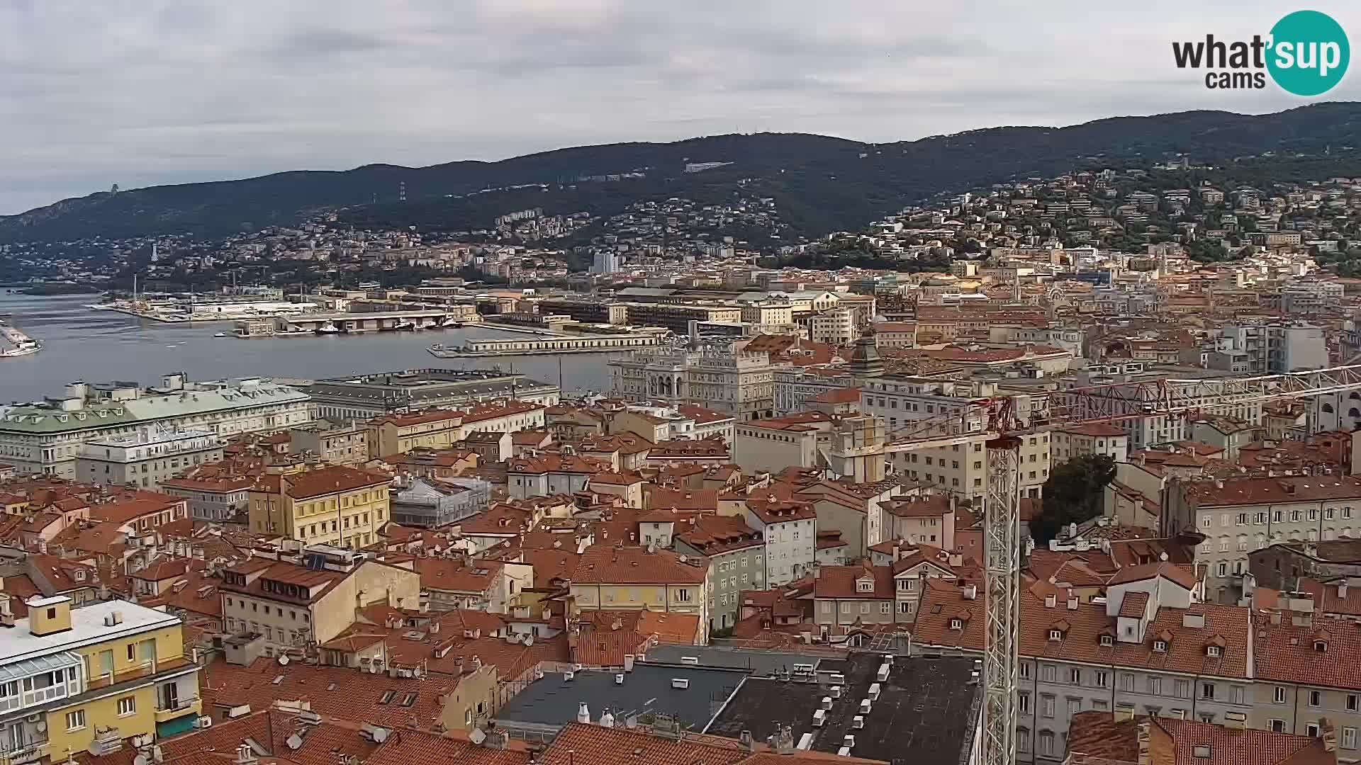 Webcam Trieste – View from sanctuary Monte Grisa