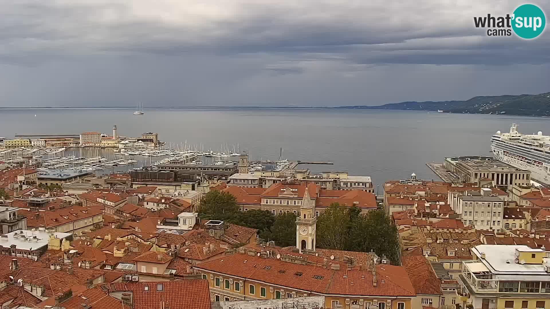 Spletna kamera Trst – pogled s svetišča Monte Grisa