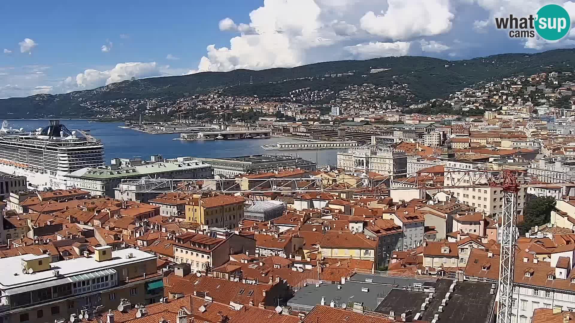 Webcam Trieste – Vue du sanctuaire Monte Grisa