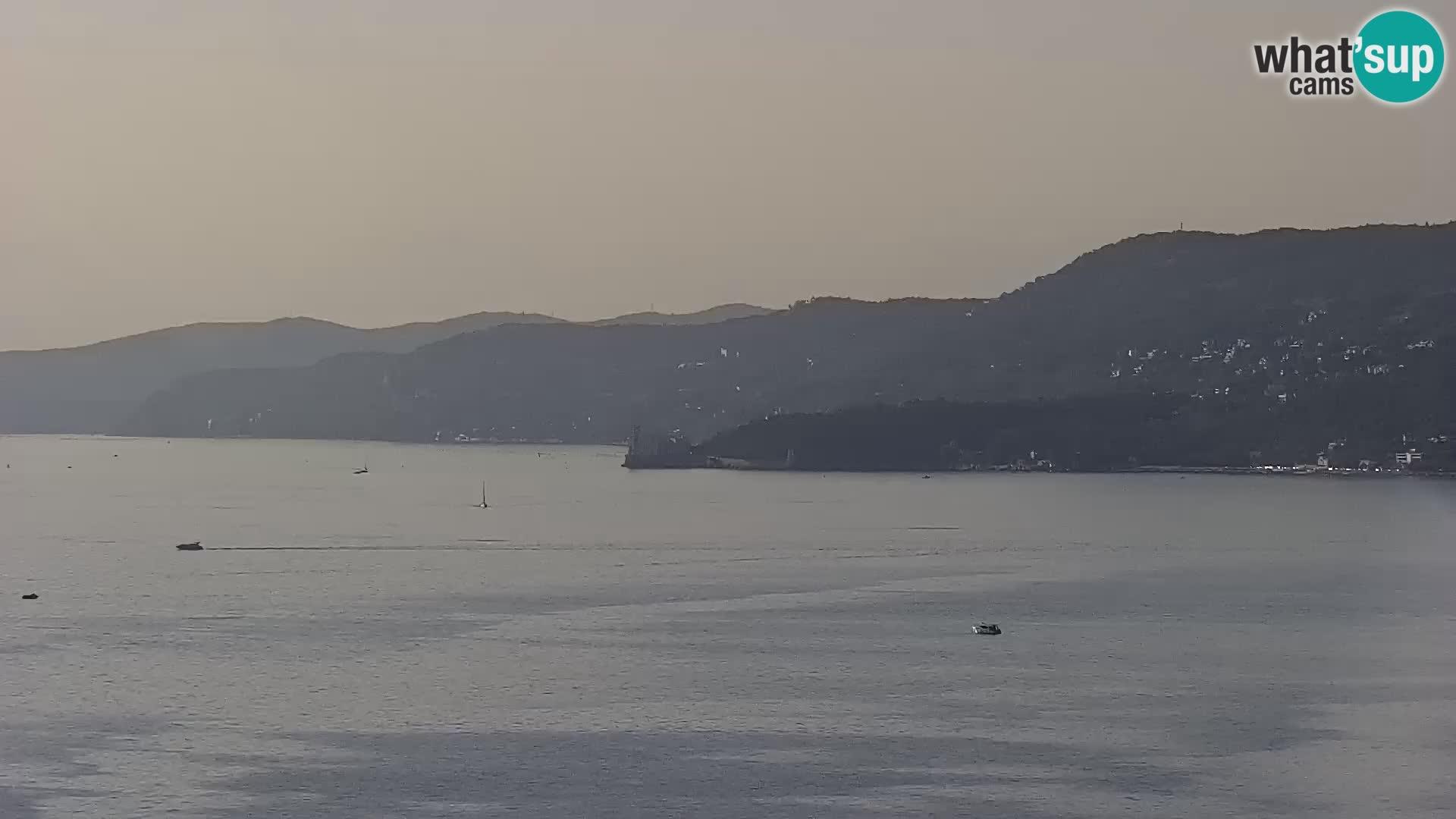 Webcam Triest – Blick vom Heiligtum Monte Grisa