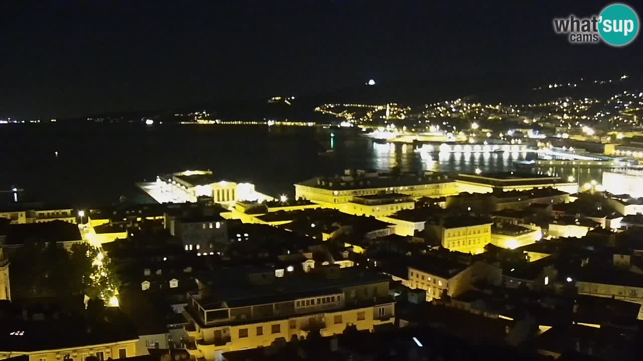 Live webcam Trieste – Panorama of the city, the Gulf, the maritime station and the Miramare castle