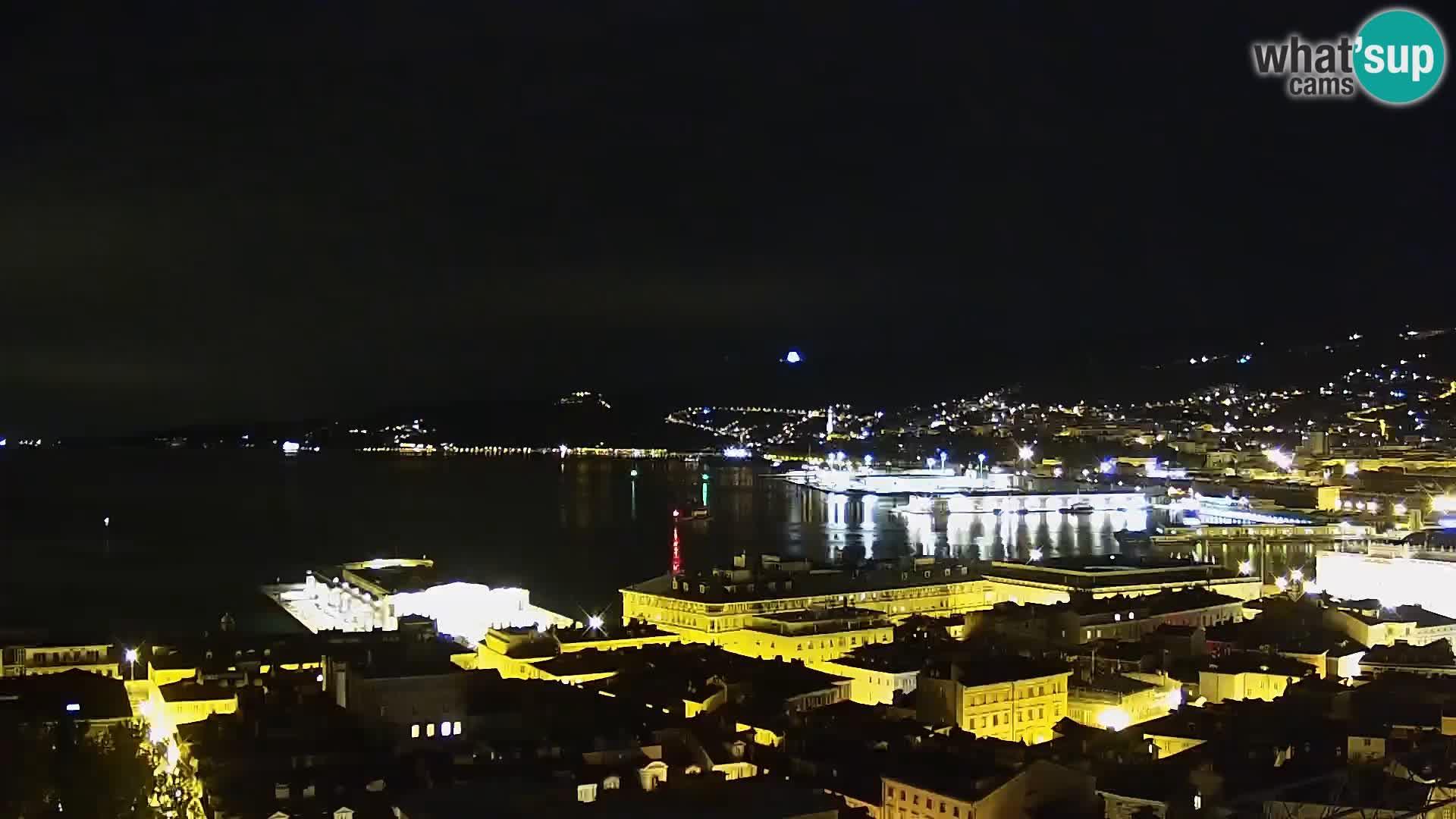Live webcam Trieste – Panorama della città, del Golfo, stazione marittima e del castello di Miramare