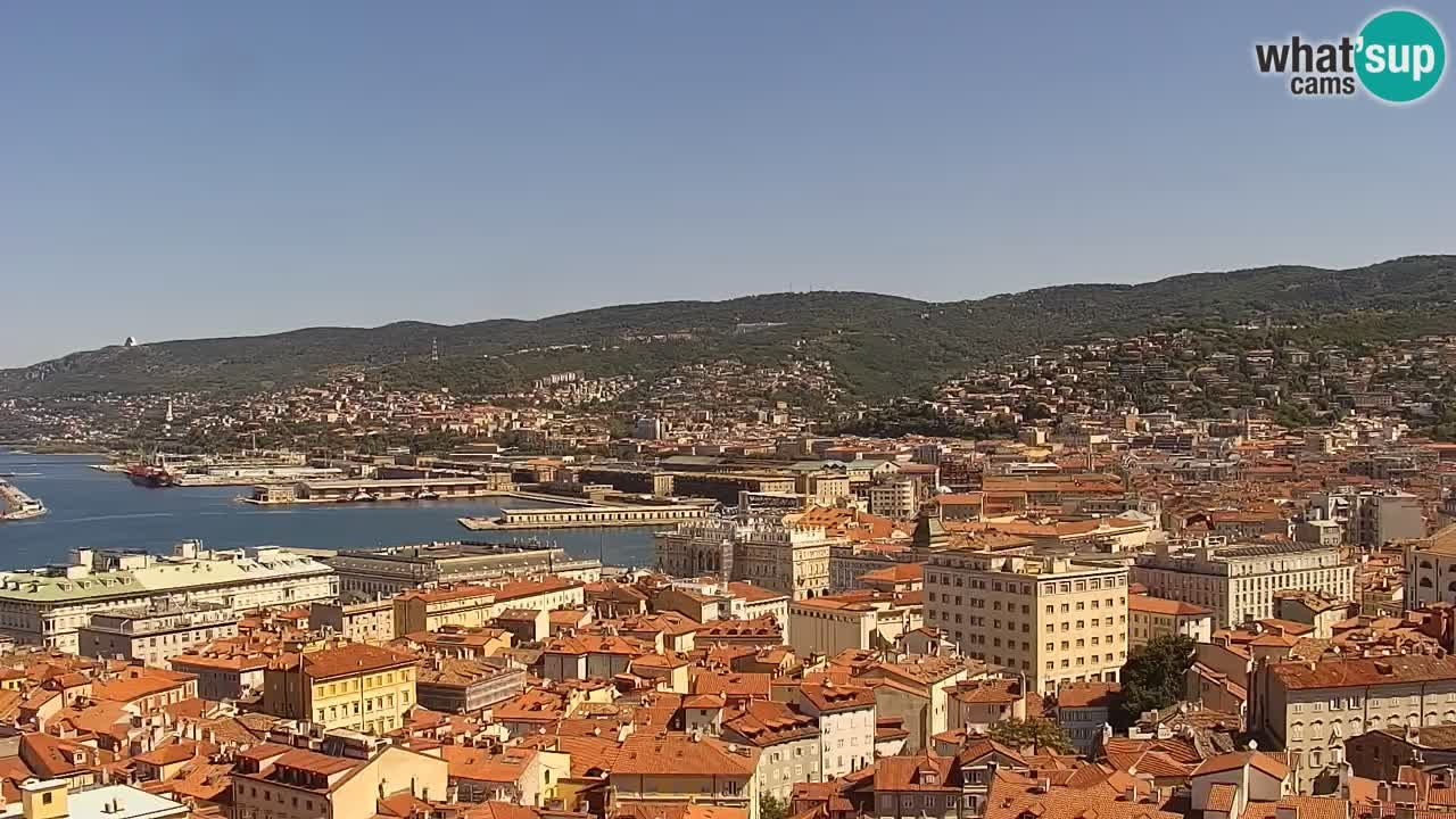 Live-Webcam Triest – Panorama der Stadt, des Golfs, der Seestation und des Schlosses Miramare