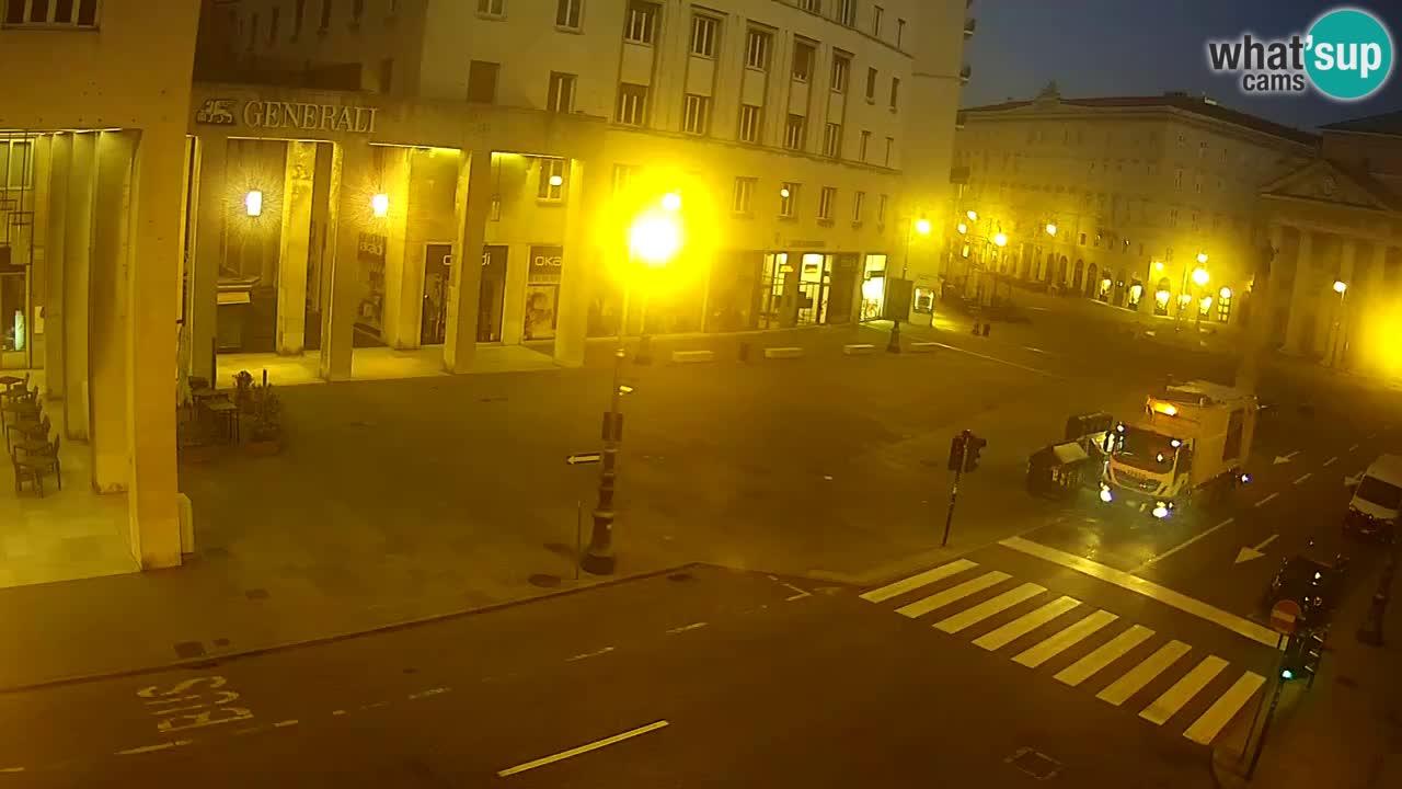Trieste – Plaza de la Borsa webcam live