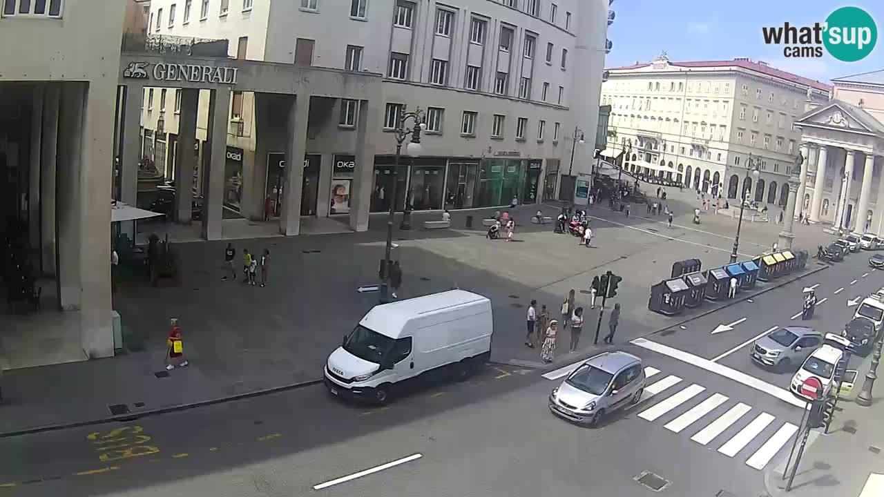 Trieste – Place de la Borsa webcam live