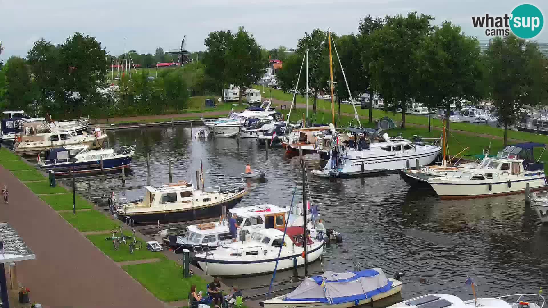 LIVE Joure Hafen webcam Windmühle