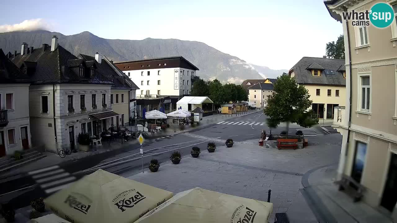 Main square in Bovec