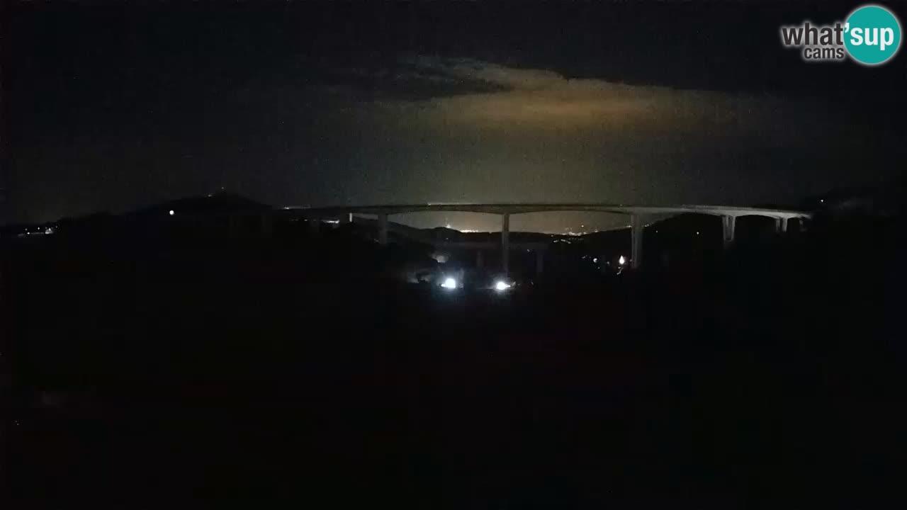 Livecam  Črni Kal Viadotto – panorama dal Viki Burger
