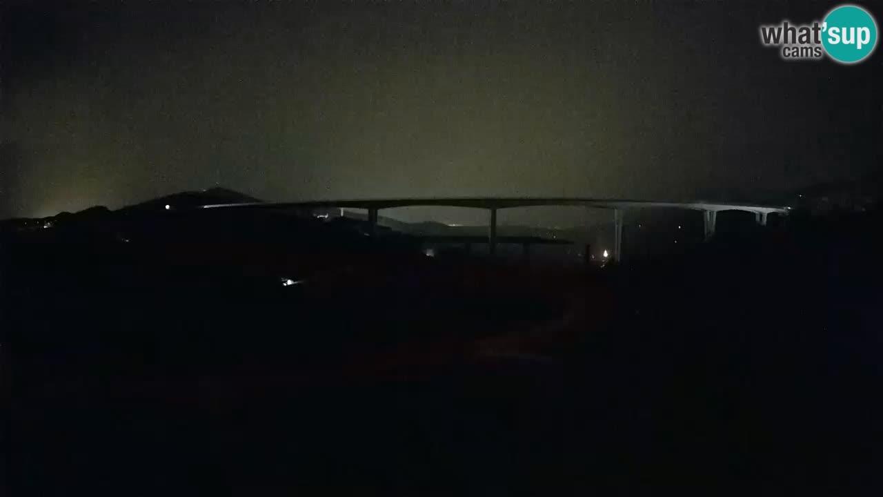 Kamera v živo Črni Kal Viadukt – pogled z Viki Burgerja