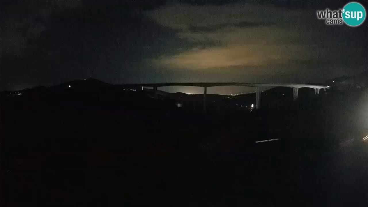 Webcam Črni Kal Viaduct – view from Viki Burger