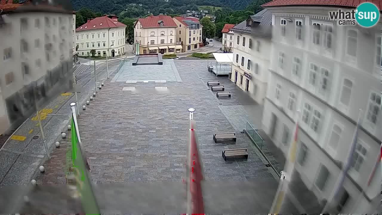 Idrija – Mestni trg (casa natale del pittore Jurij Tavčar)