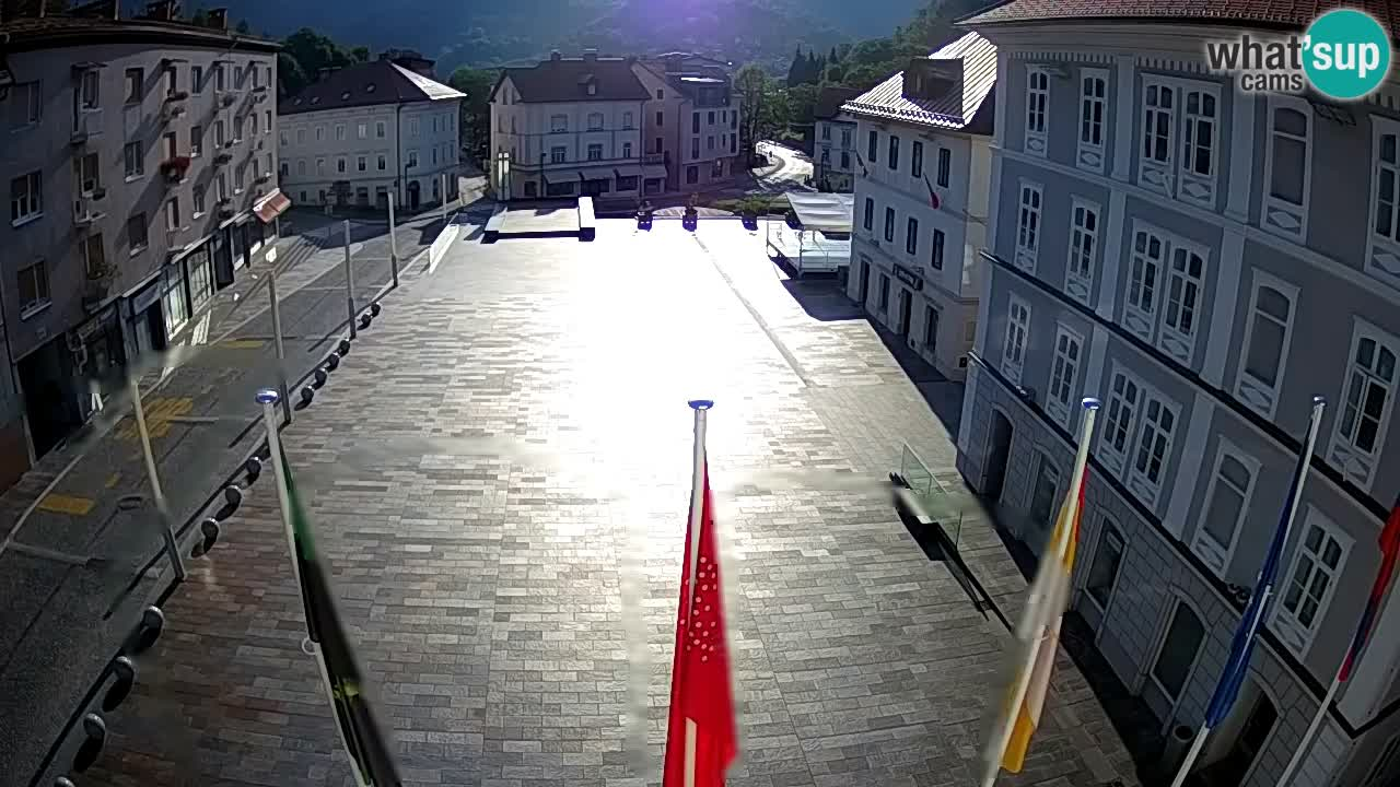 Idrija – Mestni trg (Haus des Malers Jurij Tavčar)
