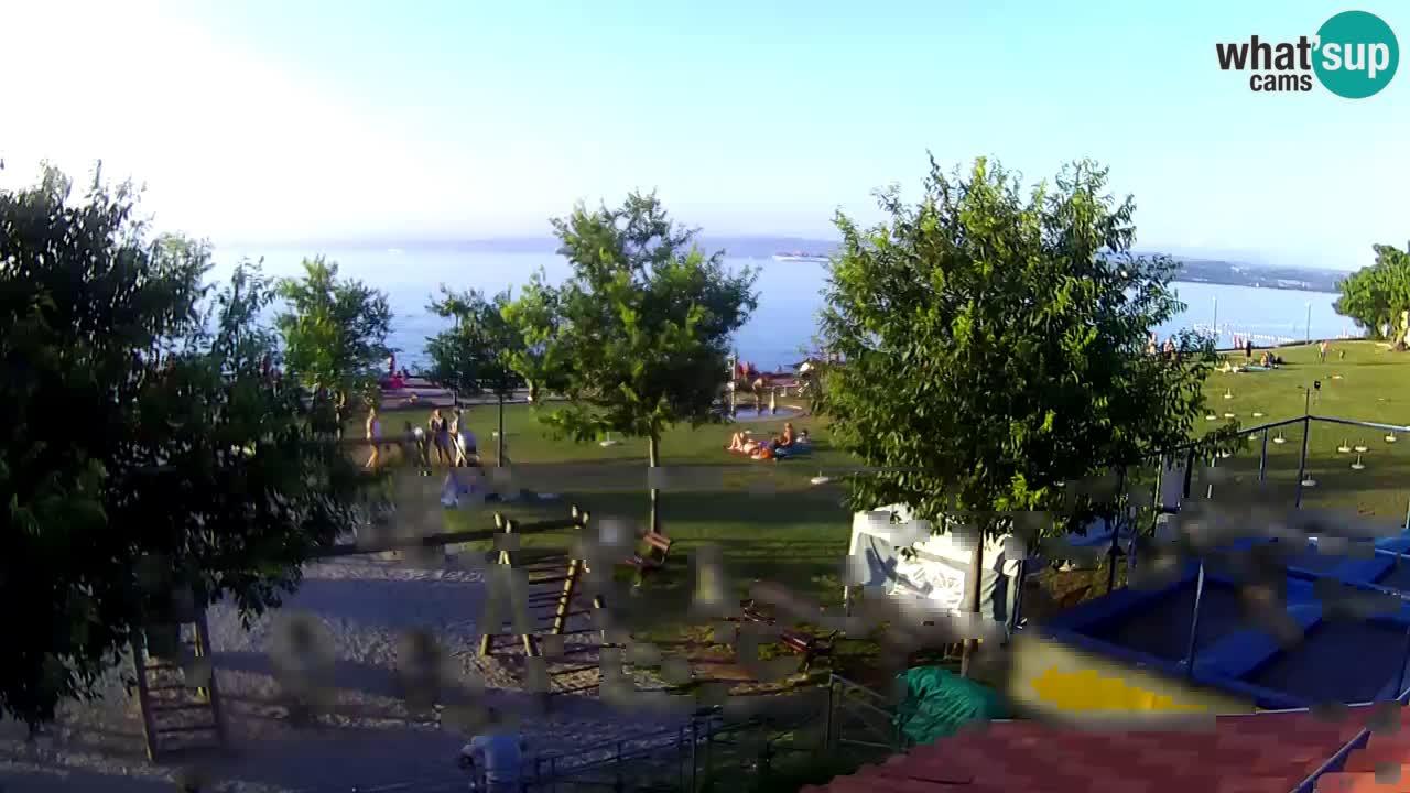 "Izola – vue depuis le restaurant ""Svetilnik"""