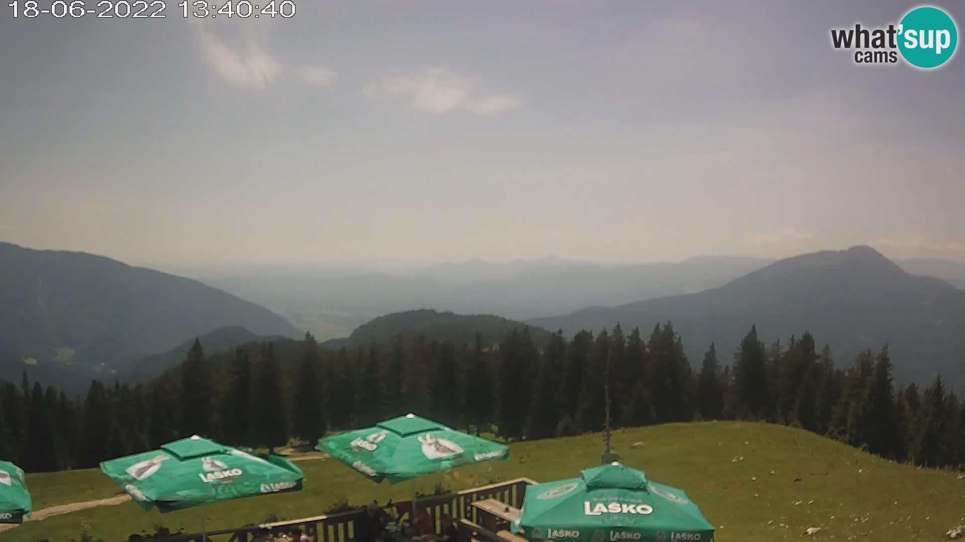 Dom na Kofcah webcam mountain hut – 1488m