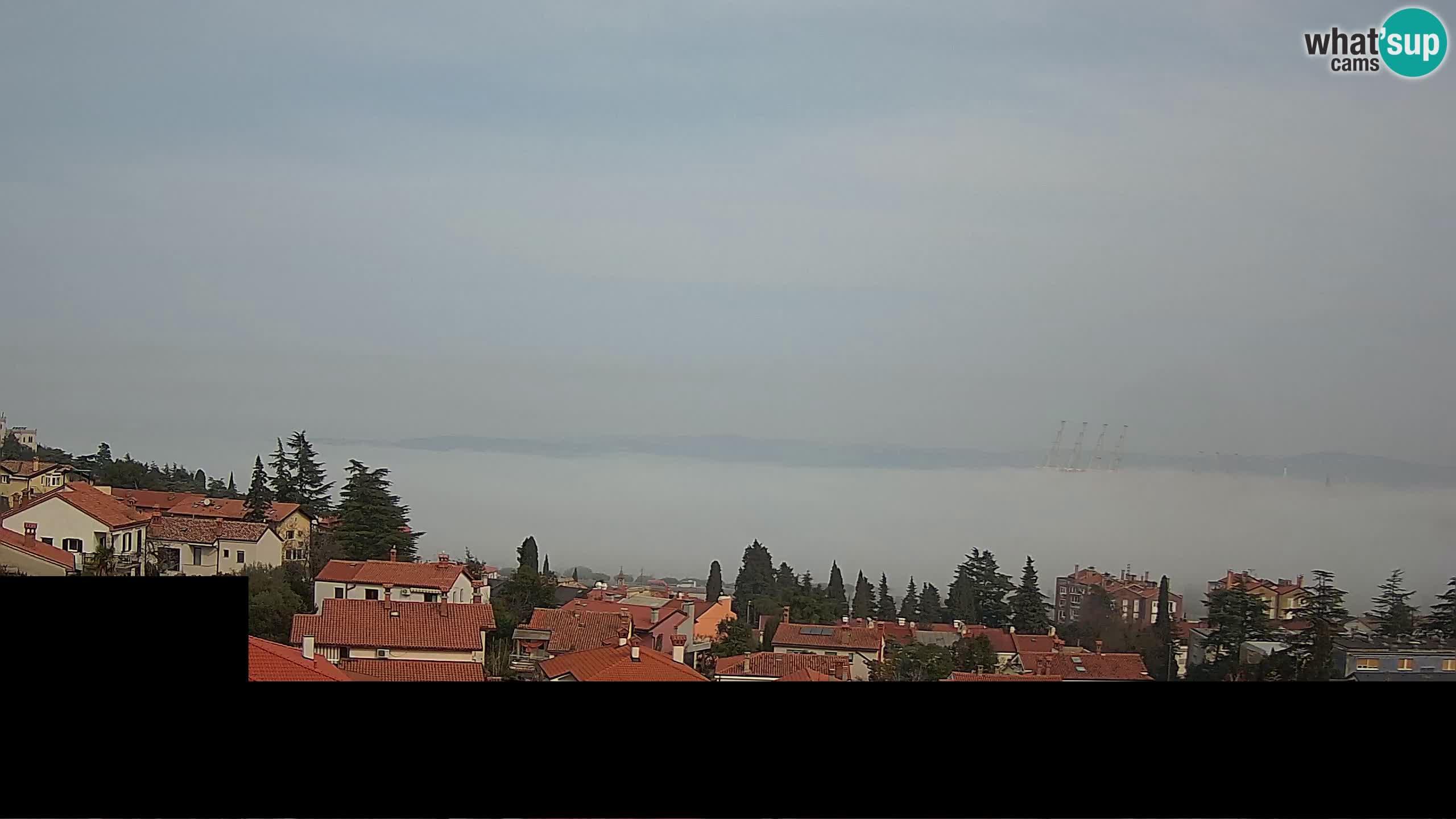 Web kamera uživo Koper – Panoramski pogled na grad i luku – Slovenija