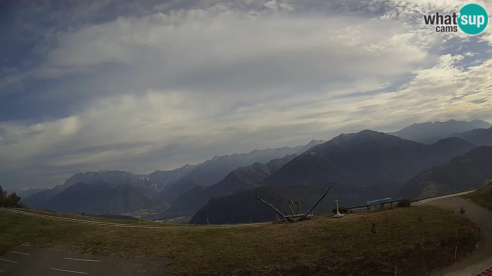 Turistična kmetija Široko spletna kamera Most na Soči