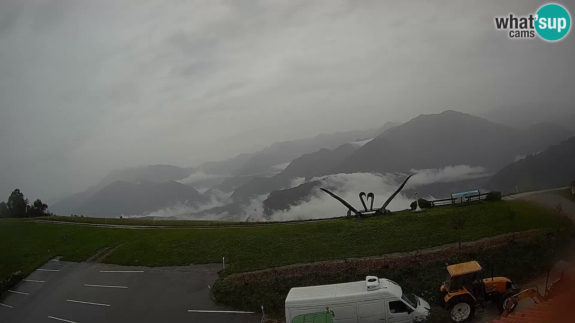 Touristenfarm Široko webcam Most na Soči