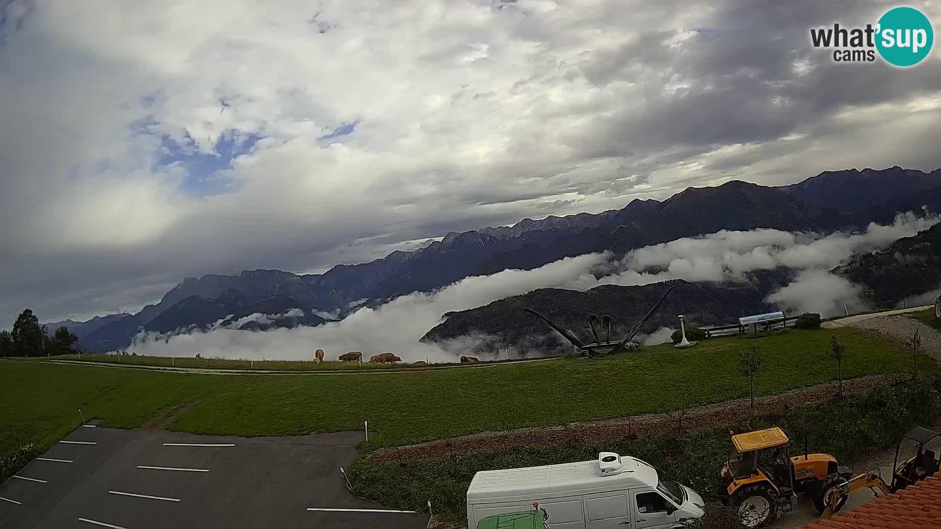 Ferme touristique Široko Livecam Most na Soči