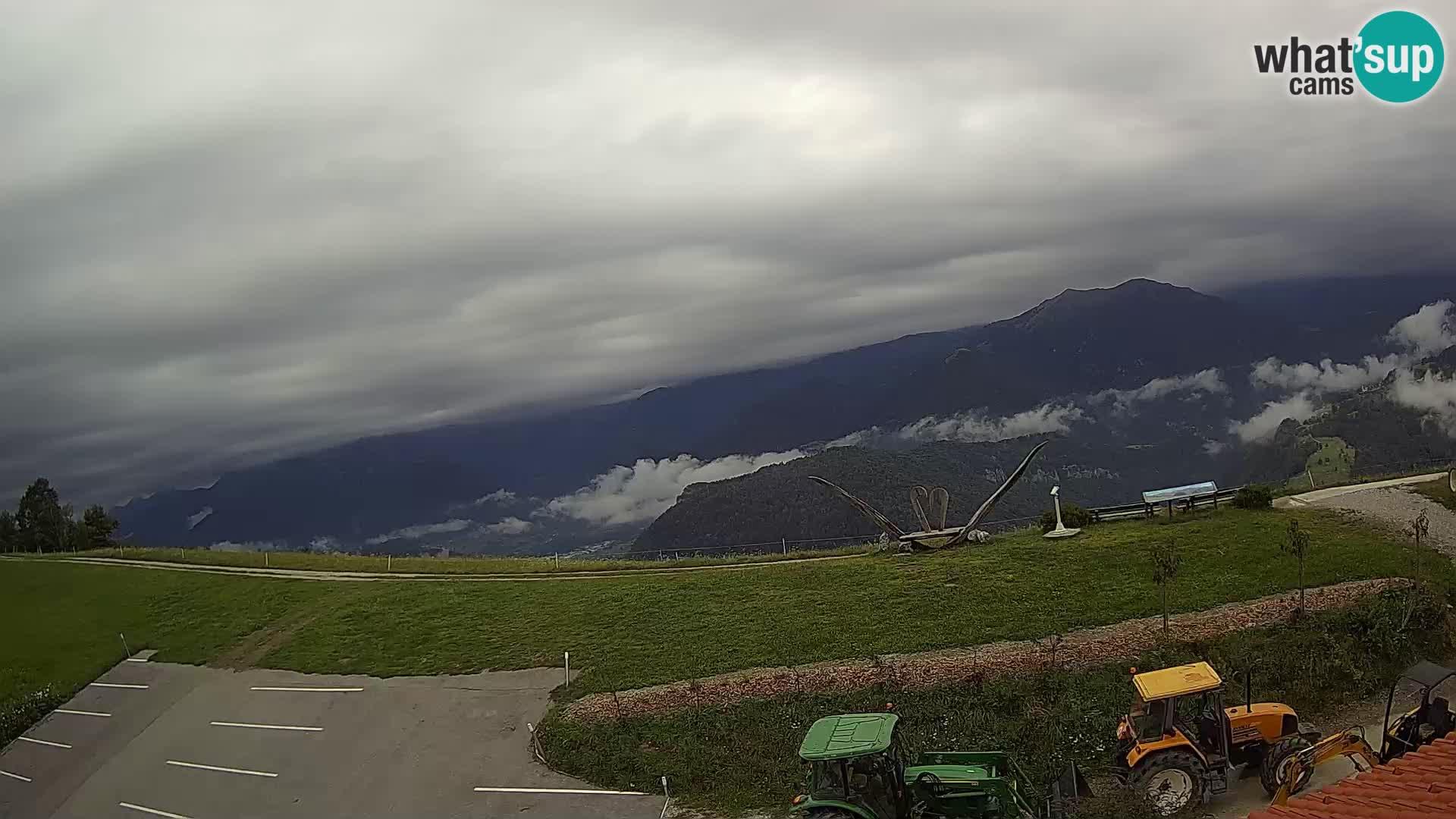 Tourist farm Široko webcam Most na Soči