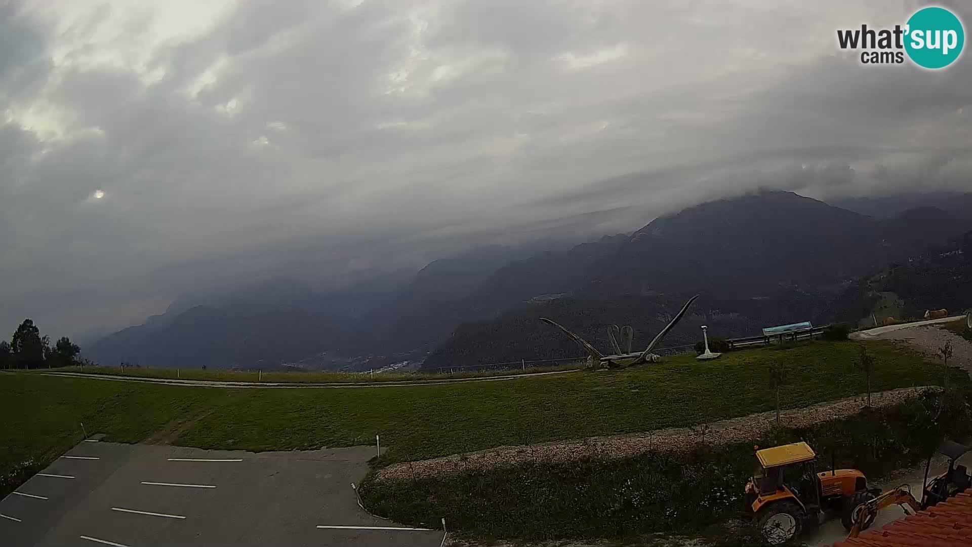 Turistična kmetija Široko web kamera Most na Soči
