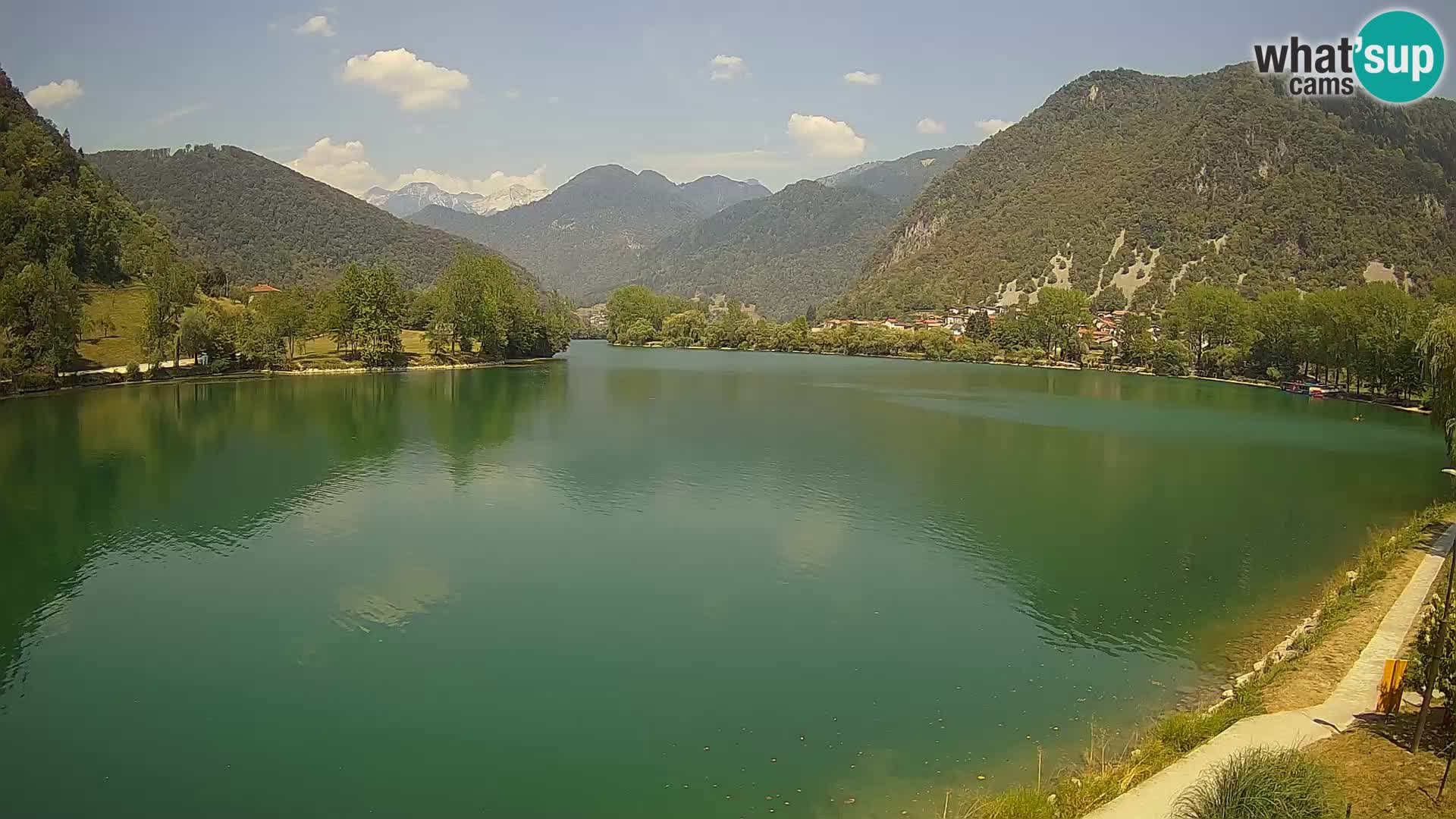 LIVEcam Most na Soči lago – Slovenia